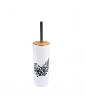 Brosse wc en plastique et bambou