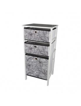 Petit meuble à 3 tiroirs en intissés