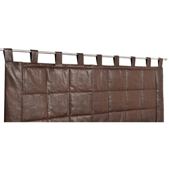 Rideau tête de lit imitation cuir (Marron)
