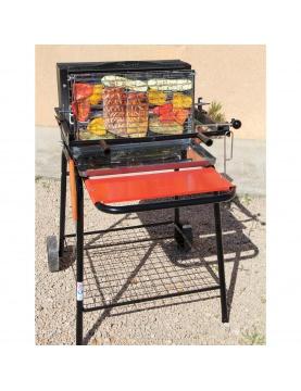 Barbecue à cuisson verticale avec système breveté