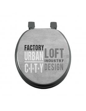 Abattant wc imprimé urban loft