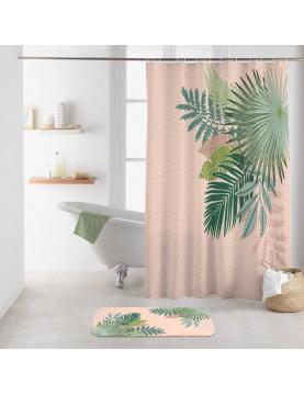 Rideau de douche imprimé rosy bay