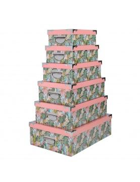 Ensemble de 6 boîtes gigognes Plumeria
