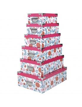 Lot de 6 boîtes gigognes Anya