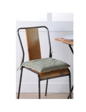 Galette de chaise bicolore à nouette