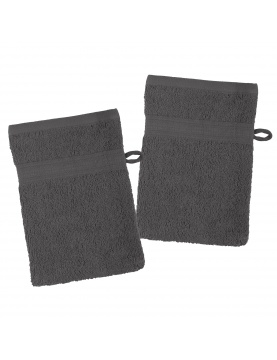 Lot de 2 gants de toilette en coton bio