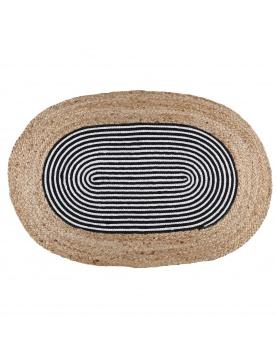 Tapis en jute ovale Stripes
