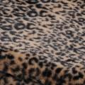 Plaid bi-matières ambiance animale (FAUVE)