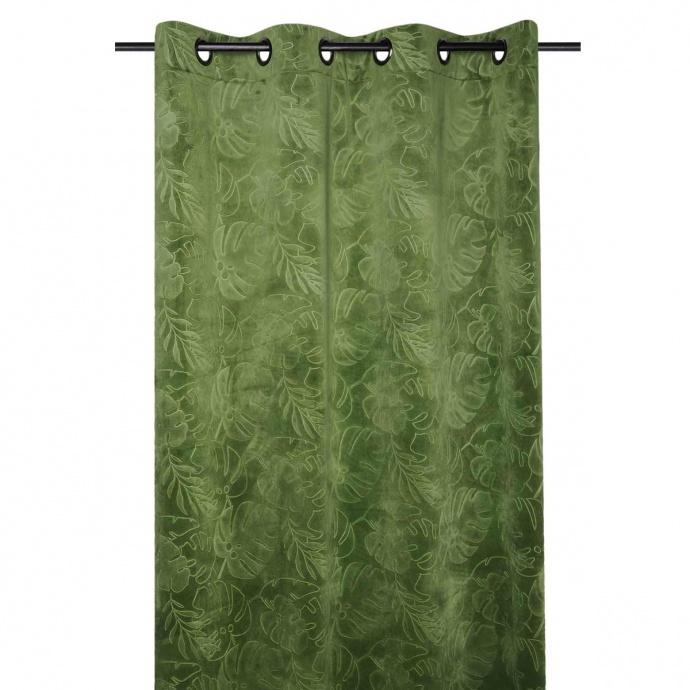 Rideau imprimé tropical (Vert)