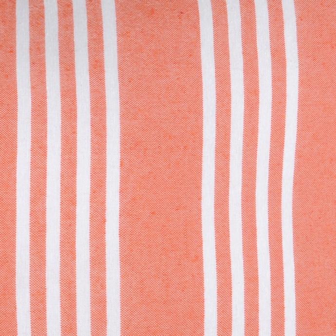 Coussin rayé et coloré (Corail)