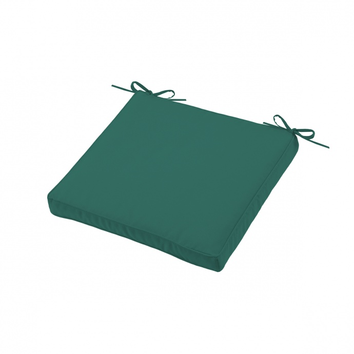 Galette de chaise épaisse outdoor colorée (Vert)
