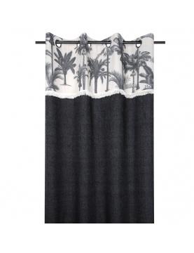 Rideau au parement de palmiers noirs