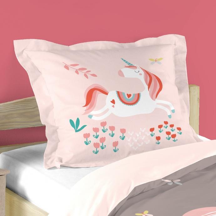Parure de lit fée et licorne (Multicolore)