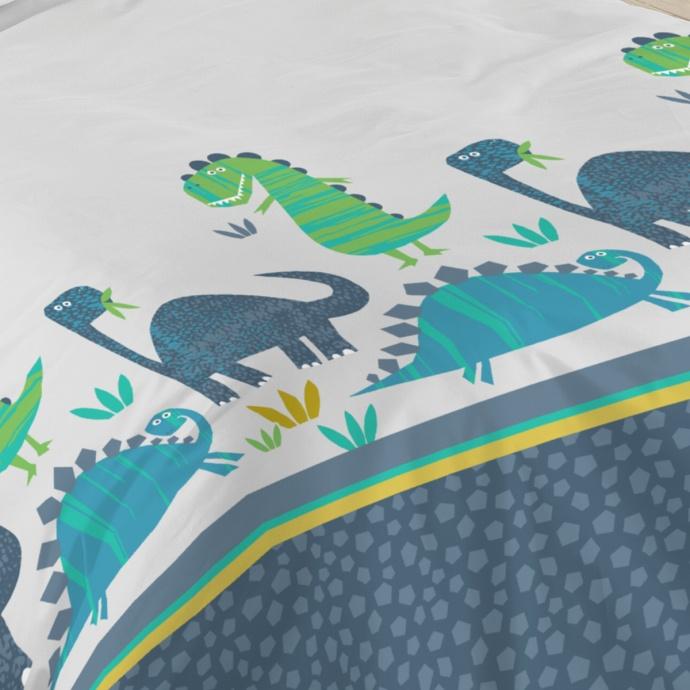 Parure de lit dinosaurus (Multicolore)