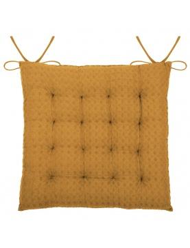 Galette de chaise matelassée en nid d'abeille