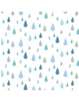 Tissu imprimé gouttes de pluie