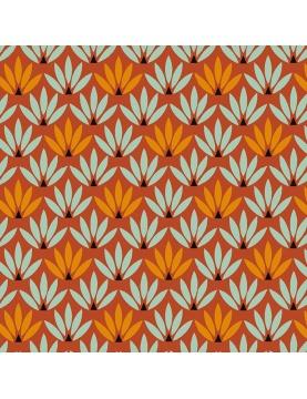 Tissu imprimé fleurs stylisées