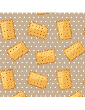 Tissu imprimé petits beurre