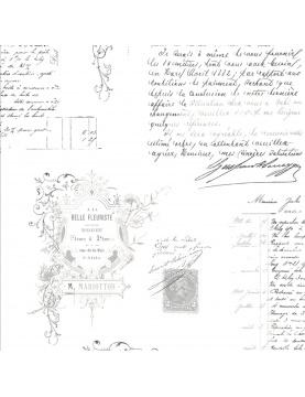 Tissu imprimé manuscrit