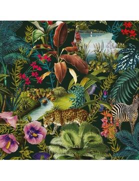 Tissu imprimé flore et faune