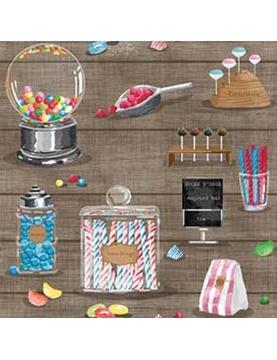 Tissu imprimé sucreries