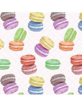 Tissu imprimé macarons