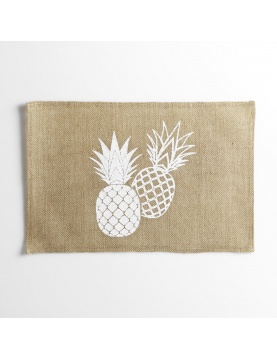 Set de table en sisal imprimé ananas