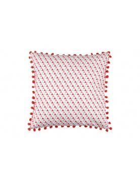 Coussin Carré avec Imprimé Géométrique Triangles