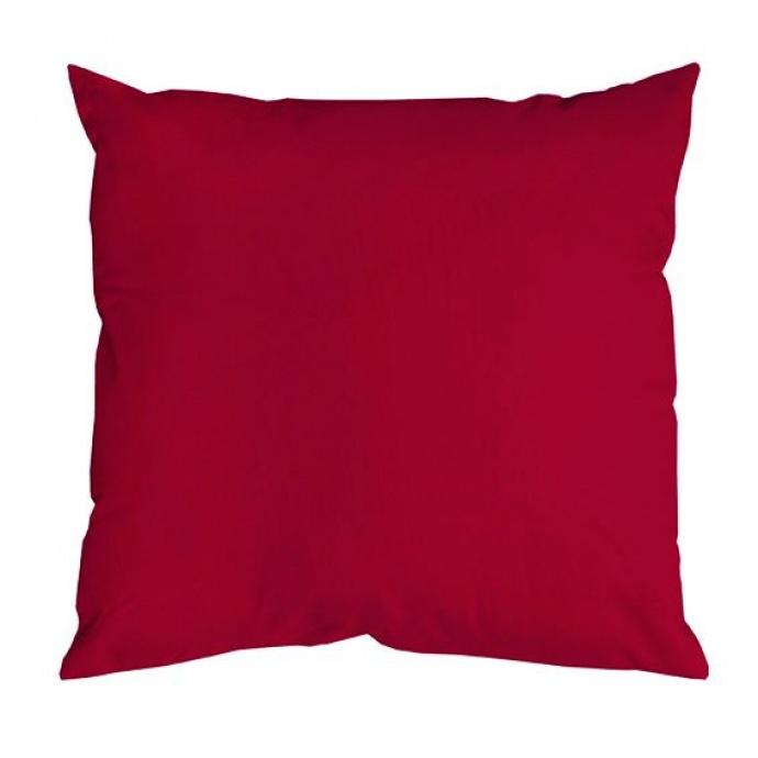Coussin Uni aux Multiples Couleurs (Rouge)