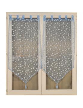 Paire de vitrages à bulles argentées