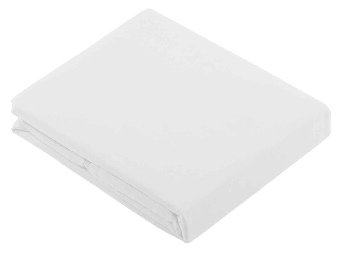 Drap recouvrement ton sur ton 180 x 290 cm blanc (Blanc)