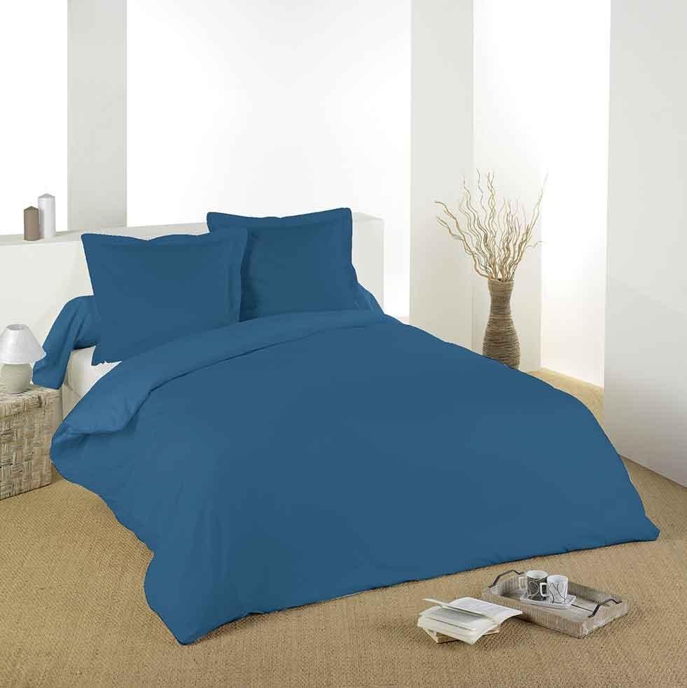 Housse de Couette Unie en Coton (Blue Jean)