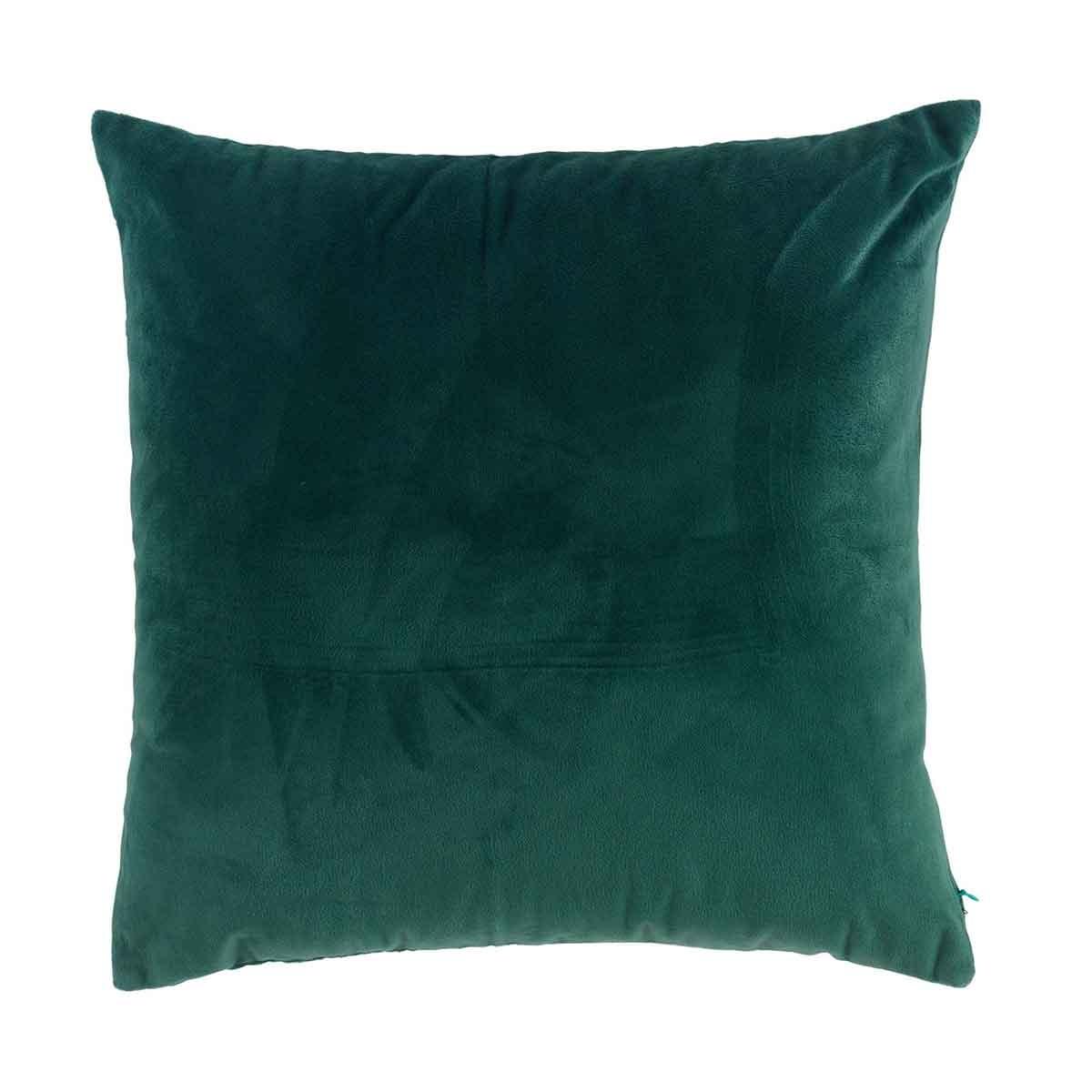 Coussin déhoussable en velours uni (Vert)