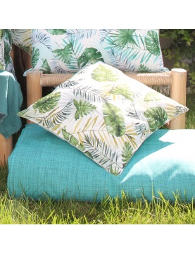 Coussin outdoor au style jungle