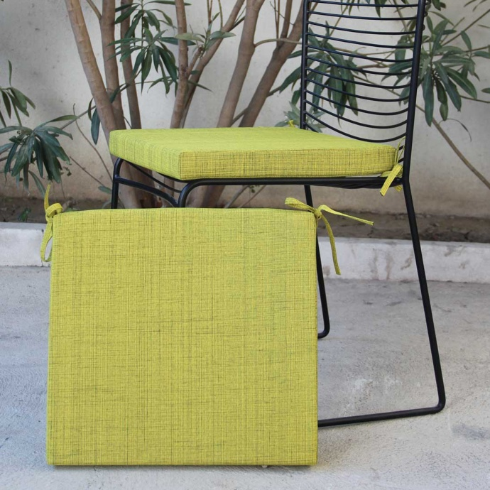Galette de chaise outdoor Antibes (Anis)