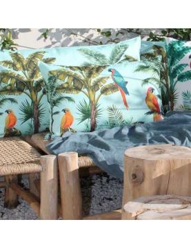 Coussin outdoor aux impressions de perroquet