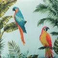 Coussin outdoor aux impressions de perroquet (Vert d'eau)
