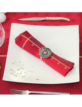 Lot de 6 serviettes de table à motifs festifs