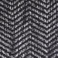Tapis déco à chevrons bicolores (Anthracite)