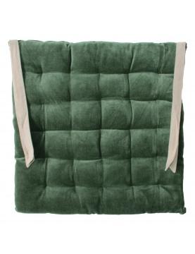 Galette de chaise à effet velours