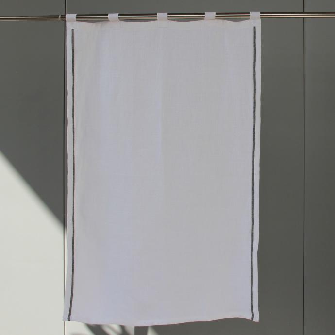 Voilage droit en 100% lin (Blanc)