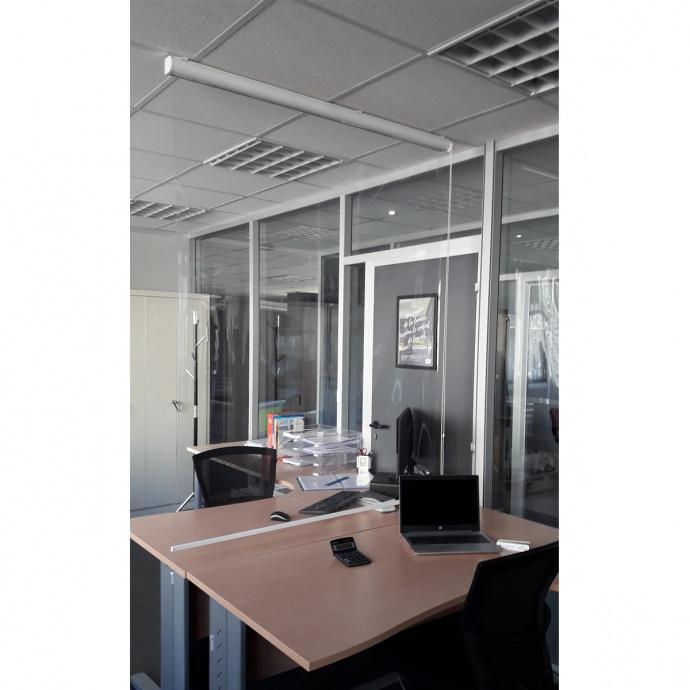 Store de protection PARAVIRUS séparateur de bureau (Blanc)