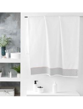 Drap de bain avec jacquard art déco
