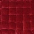 Galette de chaise à effet velours (Rouge)
