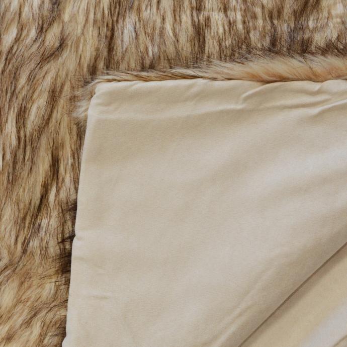 Plaid effet fourrure polaire (Blanc)