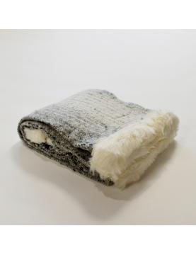Plaid efecto tweed y piel