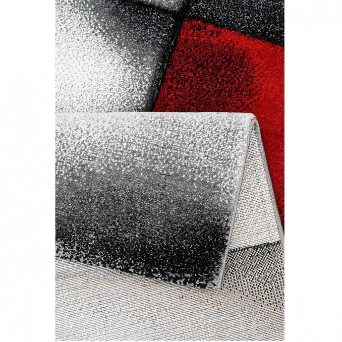 Tapis géométrique et asymétrique (Rouge)