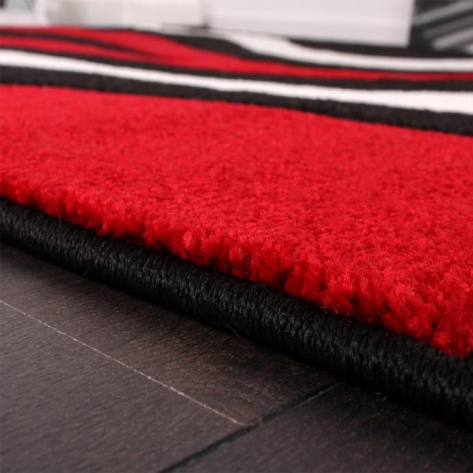 Tapis aux carrés tricolores (Rouge)