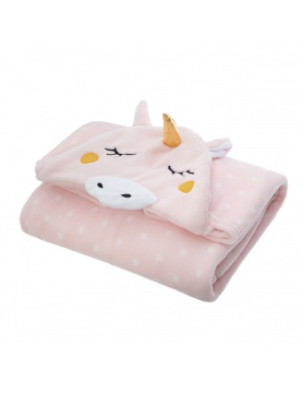 Manta capucha unicornio
