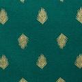 Nappe en coton aux impressions or (vert foncé)